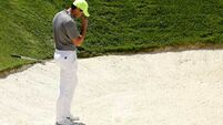 Anxious Rory McIlroy loses battle with his swing