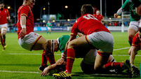 Ireland U20s foiled in frenetic battle