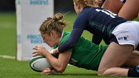 Alison Miller leads the way in rout of Scotland
