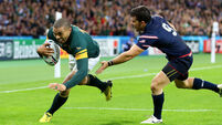 Heyneke Meyer hails hat-trick hero Habana as South Africa rout USA