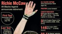 Richie McCaw has 'been an inspiration to us all'