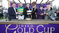 Carlingford Lough comes from nowhere on day of shocks at Leopardstown Irish Gold Cup meet