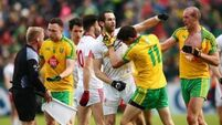 Eight tense clashes between Donegal and Tyrone