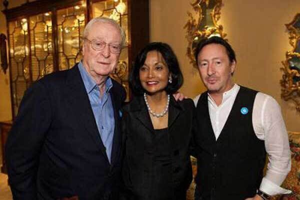 Michael Caine, Shakira Caine and Julian Lennon at Masterpiece