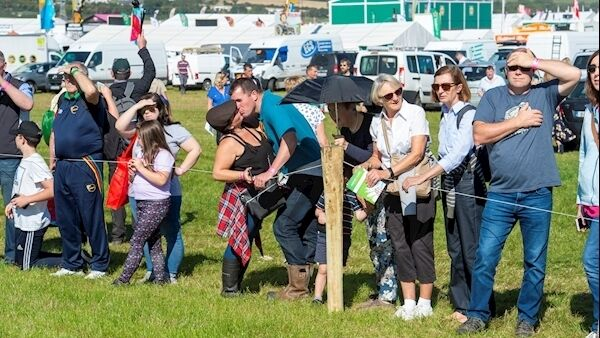 Crowds enjoy the sunshine at the Ploughing. Picture: Dan Linehan