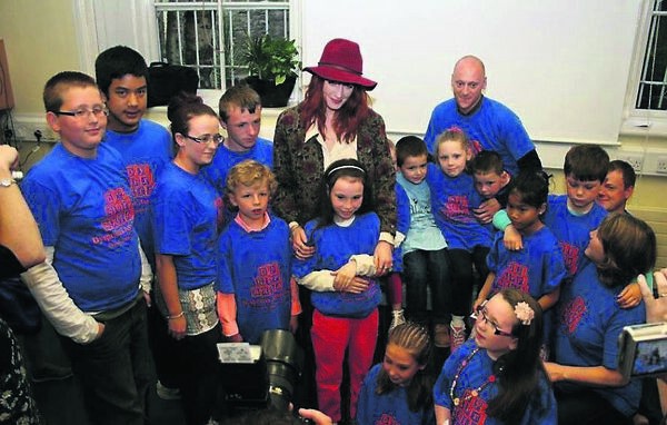 Florence Welch meets with others who have dyspraxia. Picture Nick Bradshaw