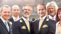 Labour divorces itself from 'cheeky' ad showing Micheál Martin and Gerry Adams as couple
