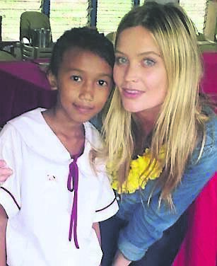Laura Whitmore and Aiel Joy, who she's been sponsoring for six years.