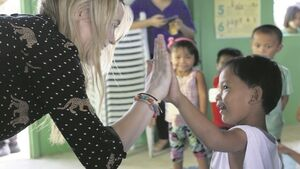 Laura Whitmore urges people to sponsor children living in poverty