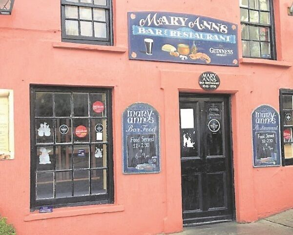 Mary Ann's in Castletownshend has made the grade with Michelin inspectors