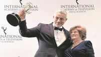 PICS: Baz Ashmawy and his mammy Nancy show one way to win an Emmy