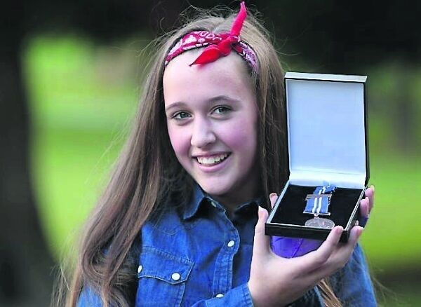 Roisin Halligan, receiver of bronze medal for bravery the ceremony in Farmleigh House . Picture: RollingNews.ie