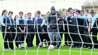 Cork students get a science lesson in the physical side of soccer
