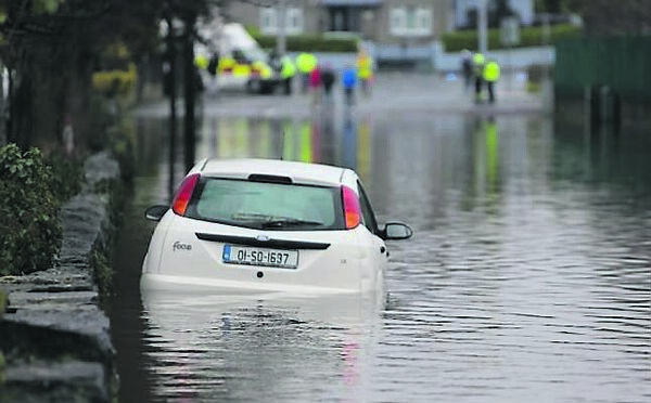 Residents in the Richmond Park area of Limerick were victims of flooding when the canal behind their homes burst its banks.