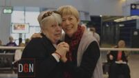 Emotional video shows sisters reunited at Dublin Airport after almost 60 years apart
