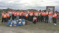 St Colman's students helping Ireland clean up its act