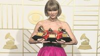 Taylor Swift hits back at Kanye West at the Grammys