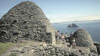 Significant damage to Skellig Micheal caused by rockfall