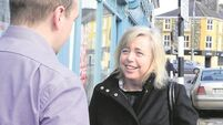 Flood relief candidate Gillian Powell encounters plenty of support on streets of Bandon