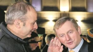 Enda Kenny and Micheal Martin both face protestors' ire