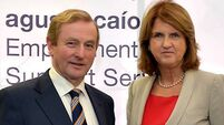 Joan Burton quiet on Enda Kenny's remarks