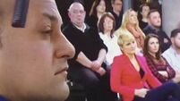 WATCH: Poor ol' Leo Varadkar got a whack in the head off a microphone last night