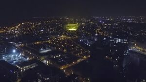 Drone footage shows off Dublin under city lights