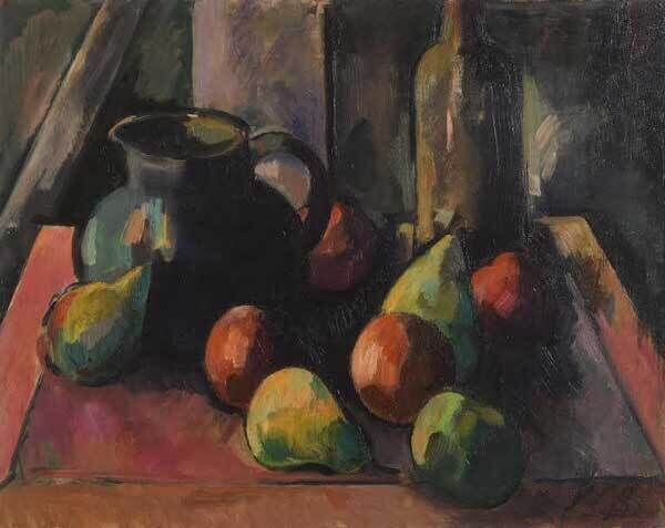 A still life by Peter Collis, from Morgan O'Driscoll's current online auction of Irish art.