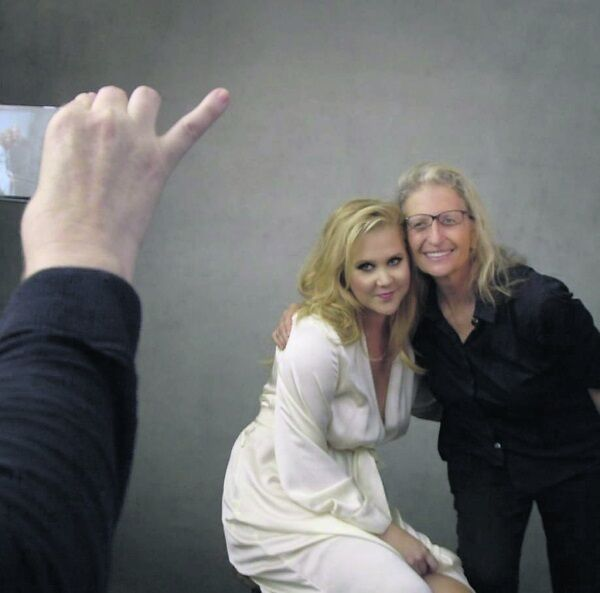 Amy Schumer and Annie Leibovitz during the 2016 shoot