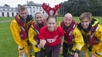Derval O'Rourke rows in for lifeboats' reindeer runs