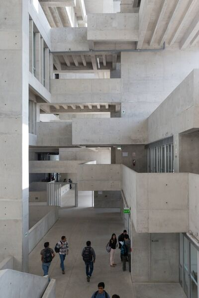 UTEC university campus in Peru by Grafton Architects which won the inaugural 2016 RIBA International Prize for the world's best new building