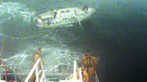 Video shows horrendous conditions RNLI crew faced during 12-hour rescue operation