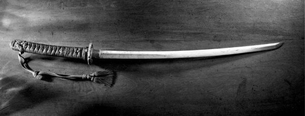 The Japanese sword presented by 2nd Lieutenant Isao Kusuno to Aidan MacCarthy in 1945 at Camp 26, Keisen, Japan. Picture: Barry Murphy