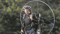 'Lawnmower man' flies paramotor from Ireland to Africa to raise funds for Gorta