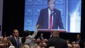 Protesters interrupt Donald Trump's speech