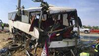 Five killed in California as pole slices bus in half