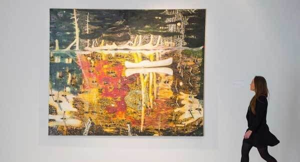 'Swamped' by Peter Doig, which has fetched almost €19.4m at a record-breaking auction.