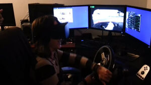 Mammy freaks out driving with Oculus Rift