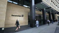 Deutsche Bank rises as clients and rivals show support