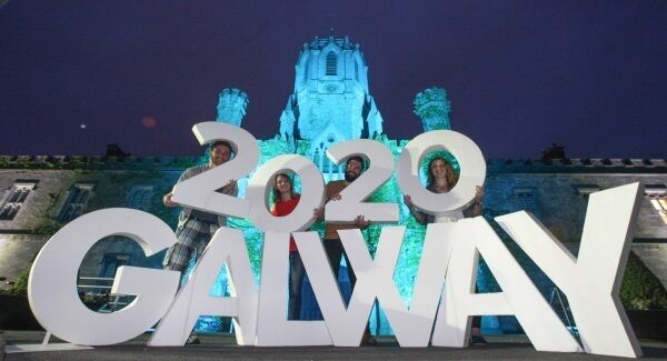 NUI Galway students and graduates show their support for the Galway 2020 bid to be European Capital of Culture.