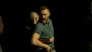 Chaos as Conor McGregor and Nate Diaz in angry faceoff