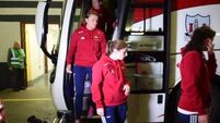 WATCH: Teams arrive in Croke Park for the Ladies All-Ireland Football Final between Cork and Dublin