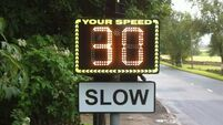 Council plans to buy €7,000 solar-powered speed warning signs