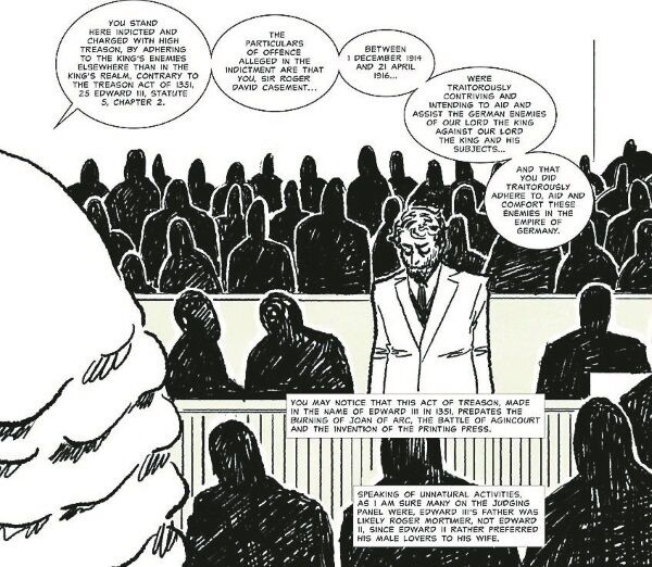 A frame from the Roger Casement graphic novel by Fionnuala Doran.