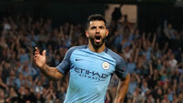 Sergio Aguero stars as Manchester City rain goals