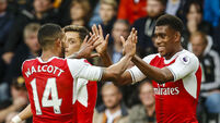 Alex Iwobi inspires as Arsenal play catch-up with Man City