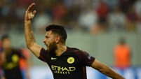 Sergio Aguero shines as Manchester City slam Steaua Bucharest