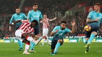 Wilfried Bony ends goal drought with Stoke brace