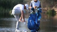 Rory McIlroy makes unwanted splash in Dubai