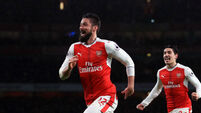 Olivier Giroud's goal for the ages lifts Arsenal to third
